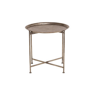 PTMD dunk iron antique silver table round