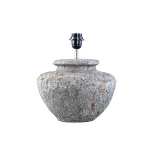 Landelijke kruiklamp PTMD kendall grey ceramic s
