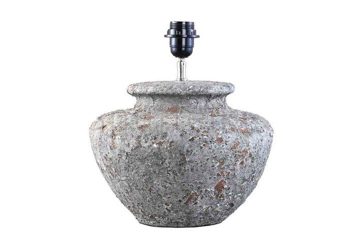 PTMD Landelijke kruiklamp PTMD kendall grey ceramic s