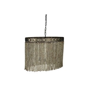 PTMD hanglamp beading white wood