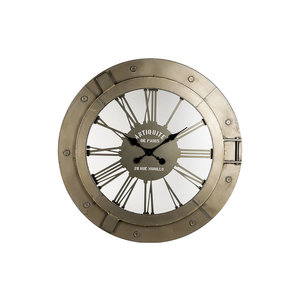 PTMD fabric metal clock open round