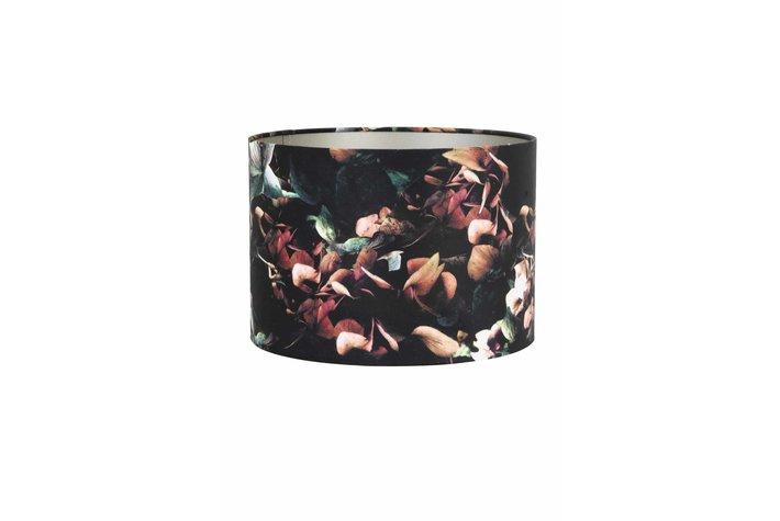 Light en Living Light & Living Kap cilinder hortensia 15-20-20 velours zwart