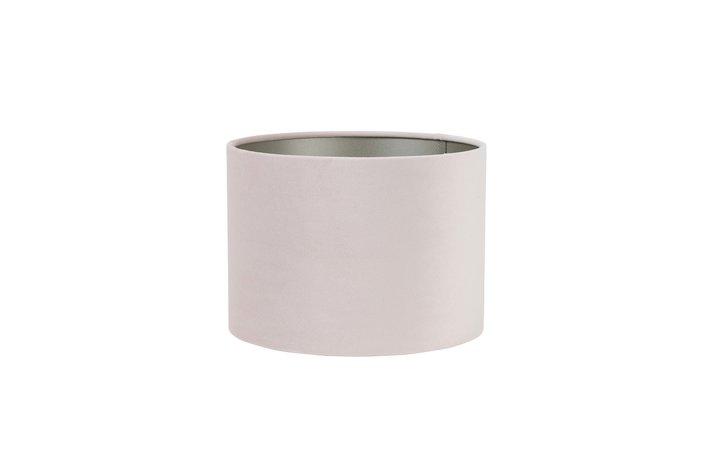 Light en Living Light & Living Kap cilinder velours 15-20-20  licht roze
