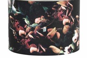 Light en Living Light & Living Kap cilinder velours 18- 25-25 hortensia zwart