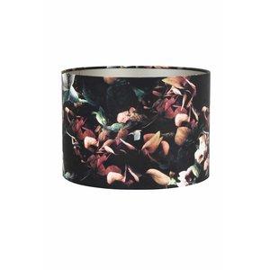 Kap cilinder velours 18-  25-25 hortensia zwart