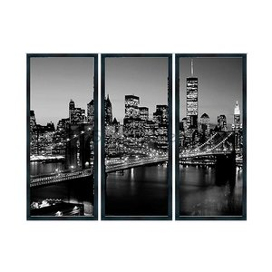 Schilderij 3-luik New York