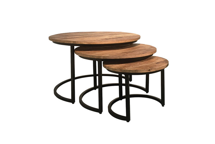 Set van 3 coffeetable mango