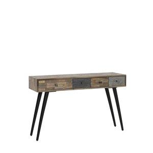 Light & Living Console camarico mix hout mat zwart
