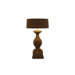 Frezoli tafellamp Salzano Grijs/zwart L.127.1.000
