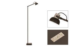 Frezoli Lighting by Tierlantijn Frezoli vloerlamp Mazz Mat zwart L.843.1.600