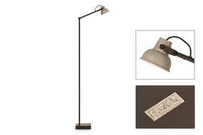 Frezoli Lighting by Tierlantijn Vloerlamp Frezoli mazz grijs L.843.1.800