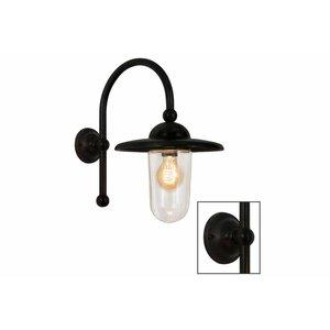 Frezoli wandlamp Piavono Donkerbruin zwart finish L.738.2.150