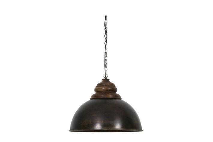 Light en Living Light & Living Hanglamp leia zwart zink bruin