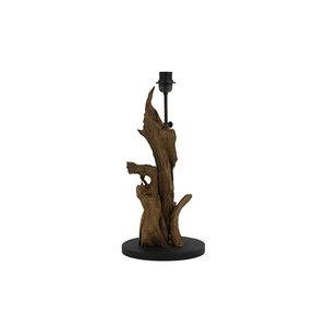 Landelijke lampenvoet hout naturel bruin