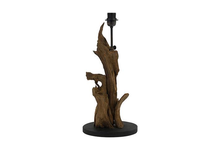 Light en Living Light & Living Landelijke lampenvoet hout naturel bruin