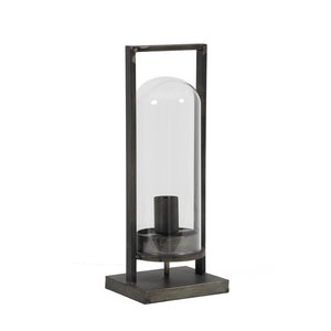 Tafellamp jurre L antiek zwart