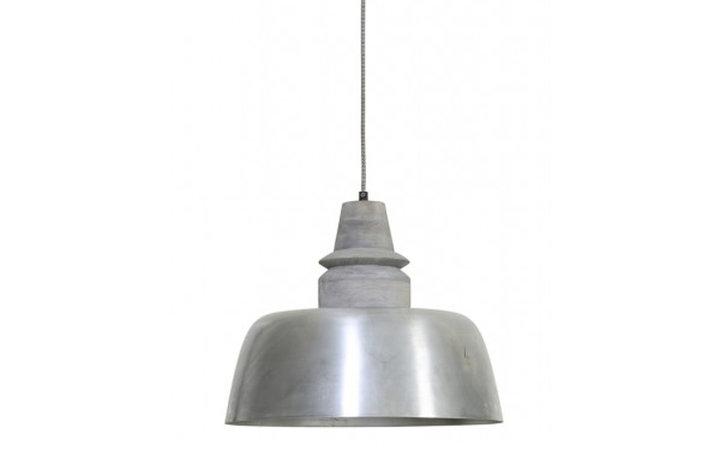 Light en Living Light & Living Landelijke hanglamp oud zilver met grijze houten