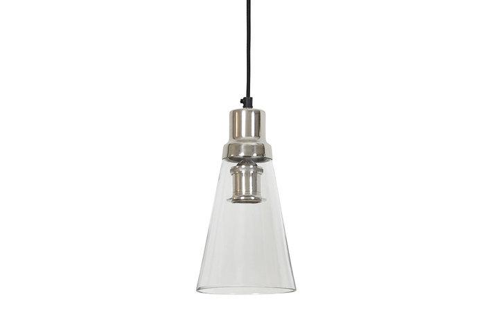 Light en Living Light & Living Hanglamp june glas nikkel satijn