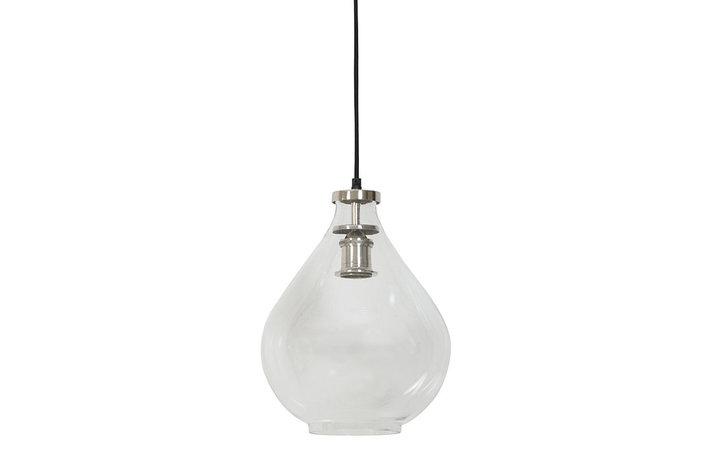 Light en Living Light & Living  Hanglamp ilze glas nikkel satijn