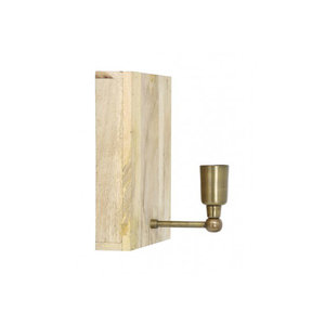 Light & Living Wandlamp buxton hout+ antiek brons