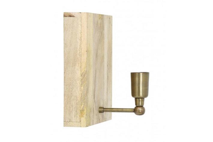 Light en Living Light & Living Wandlamp buxton hout+ antiek brons
