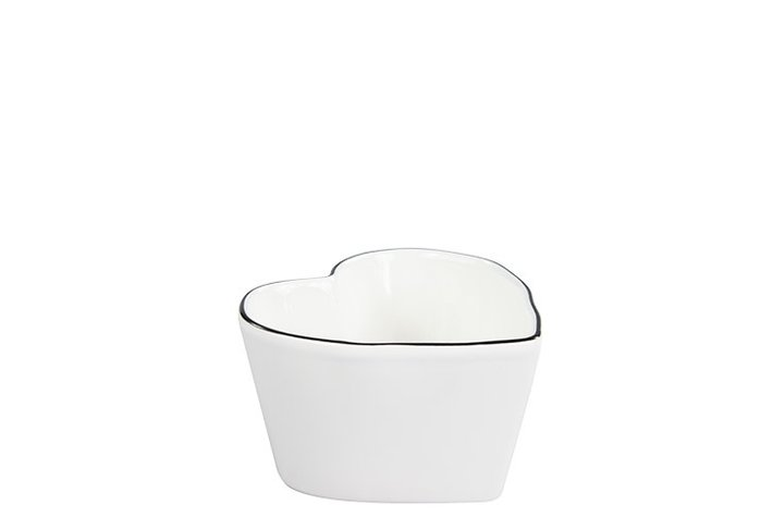 Bastion Collections Bastion Collections heart bowl wit