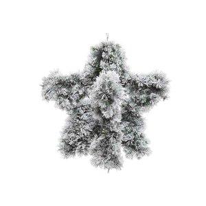 Krans 3D snowy groen wit