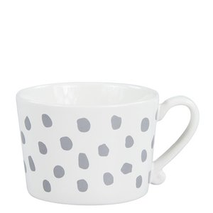 Bastion Collections Mug White dots grey
