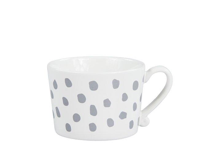 Bastion Collections Bastion Collections Mug White dots grey
