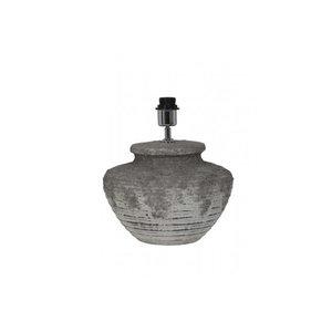 Landelijke kruiklamp keramiek relief grijs