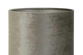 Light en Living Light & Living Kap  velours cilinder 18-25-25 zinc taupe
