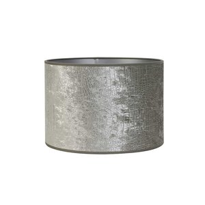 Light & Living Kap cilinder 40-40-35 Chelsea Velours Zilver