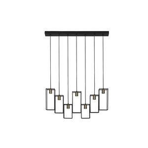 Light & Living Hanglamp 7L Marley mat zwart