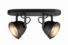 Label 51 Led Spot 2 Light Black metal