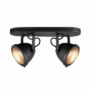 Led Spot 2 Light Black metal
