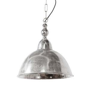 Landelijke hanglamp ruw nikkel L