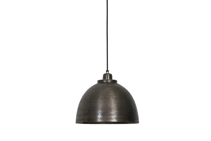 Light en Living Hanglamp donker ruw nikkel