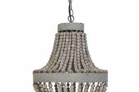 Light en Living Light & Living Hanglamp-Kralen Oudwit Luna