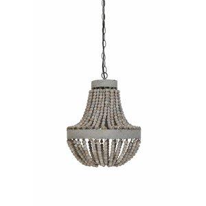 Hanglamp-Kralen Oudwit Luna
