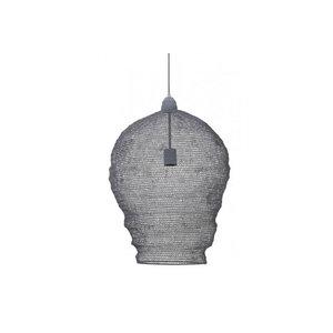 Landelijke hanglamp Nina gaas grijs