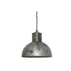 Light & Living Industriele hanglamp vintage zilver