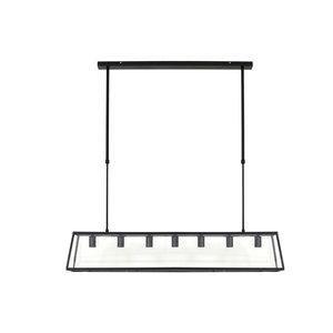 Light & Living Hanglamp Zwart/Glas Svana