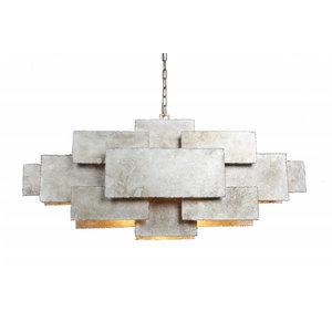 Leclercq & Bouwman hanglamp Beluga ambachtelijk zilver