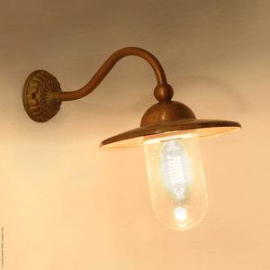 Frezoli wandlamp Marano Bruin patina L.717.1.850