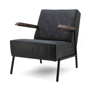 Showmodel fauteuil Wietse leder zwart