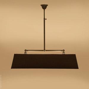 Hanglamp Mat Zwart L.118.9.600