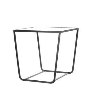 Bijzettafel 60cm Zwart/glas