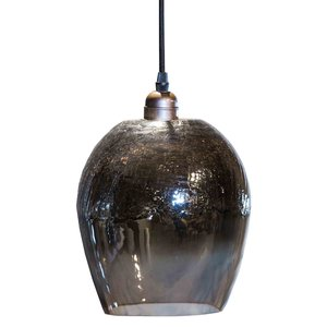 Budoir silver hanging lamp crackle top
