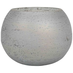 Glass Cala Grey Tealight Round S