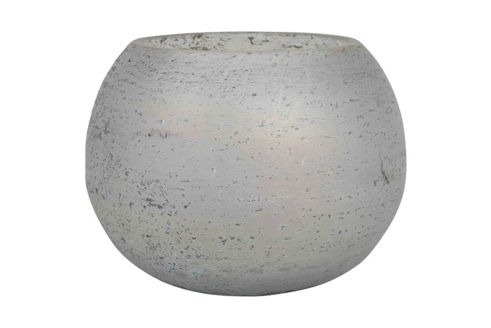 PTMD Glass Cala Grey Tealight Round S